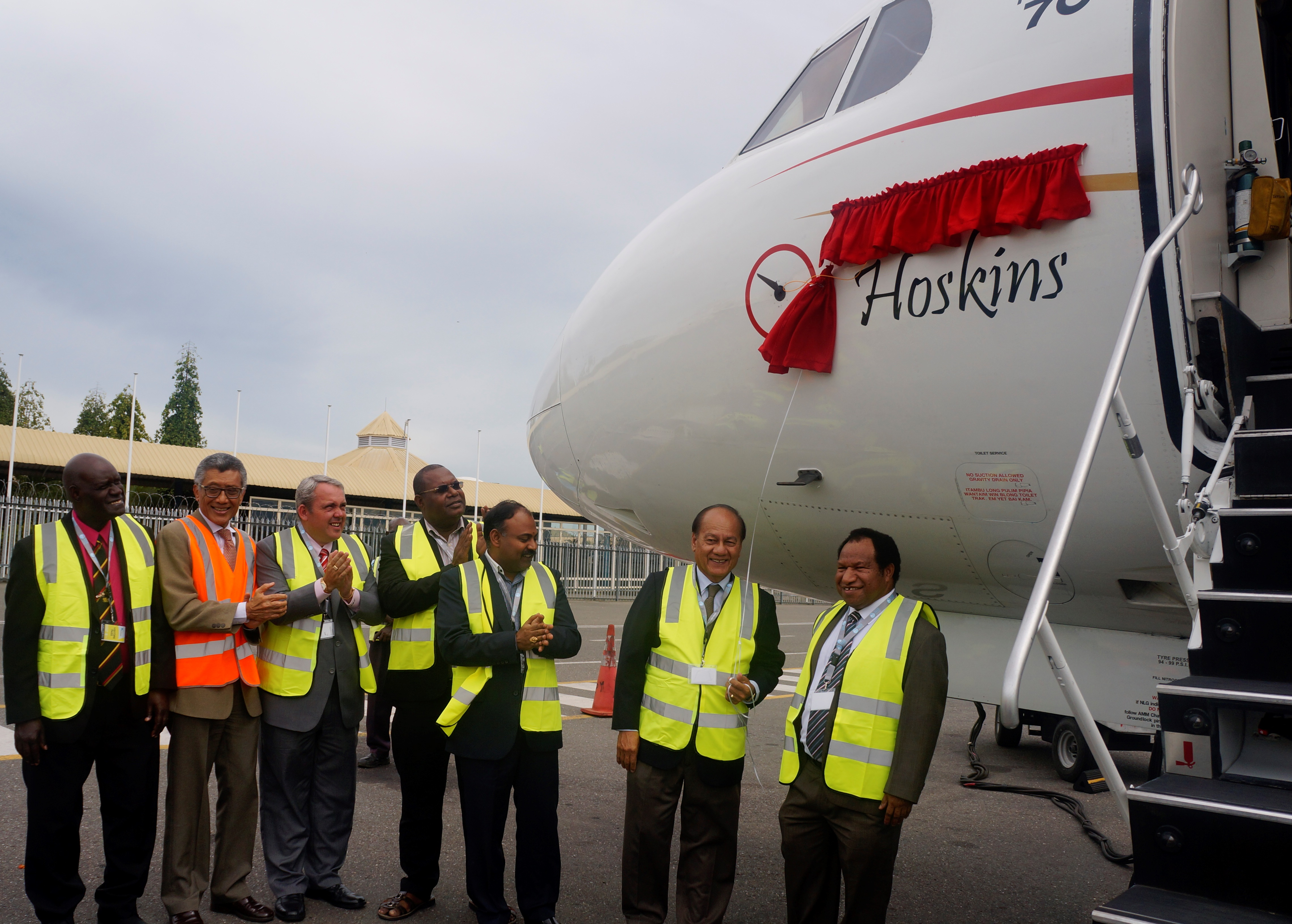 "Naming of the third Fokker 70 ""Hoskins"""
