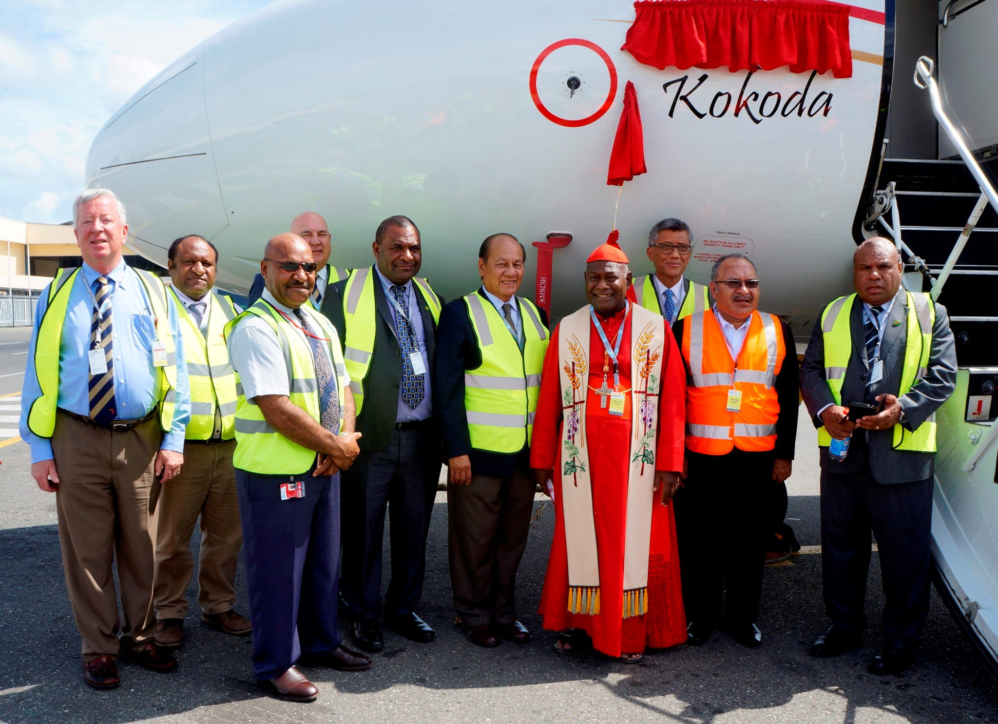 "Air Niugini named its latest Fokker 70 aircraft ""Kokoda"""