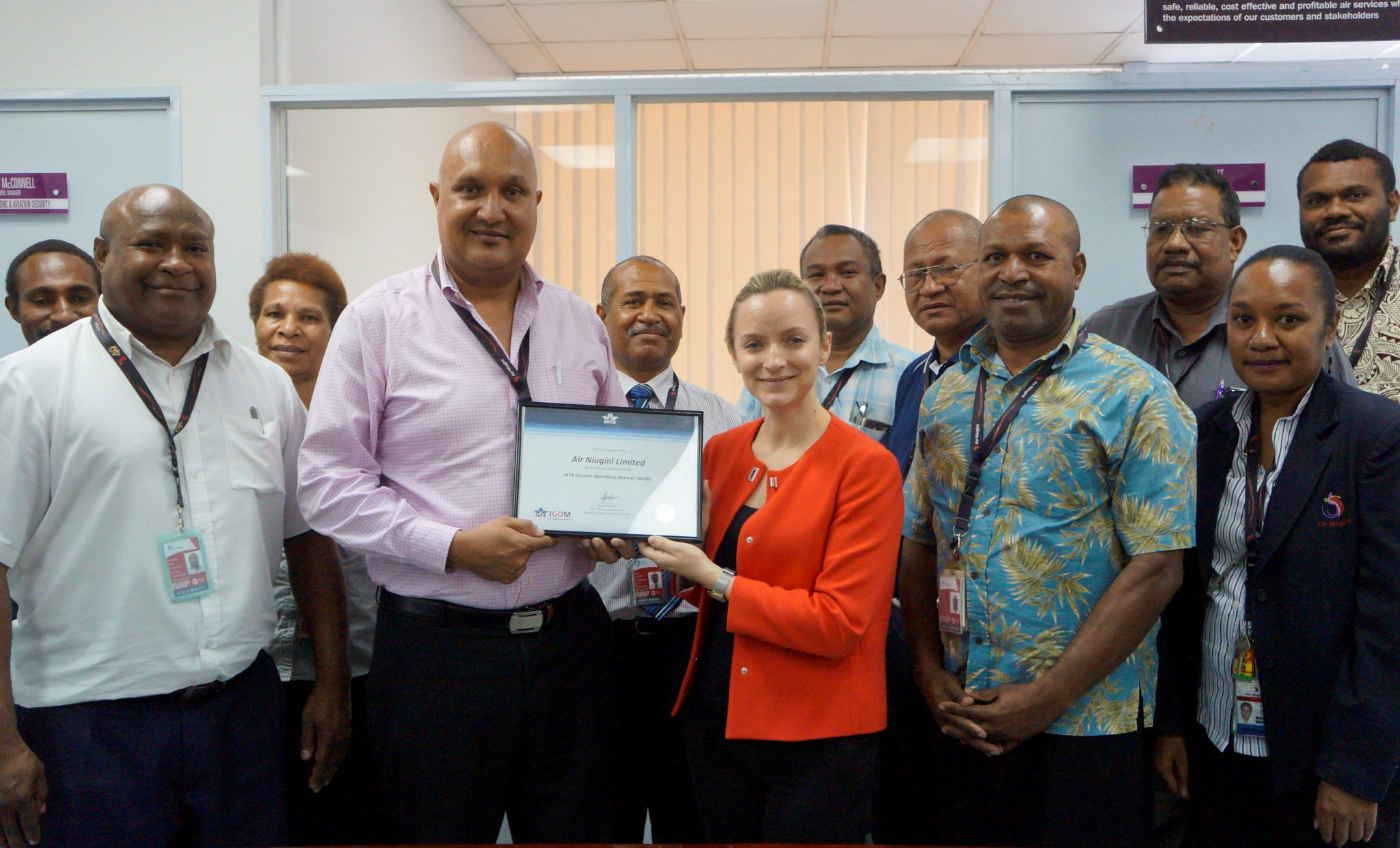 IATA recognises Air Niugini's Ground Operations Safety Standards