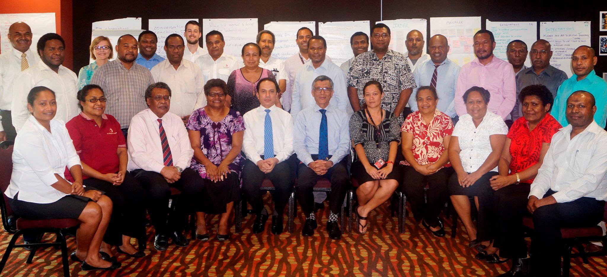 Air Niugini emerging leaders receive training on Management
