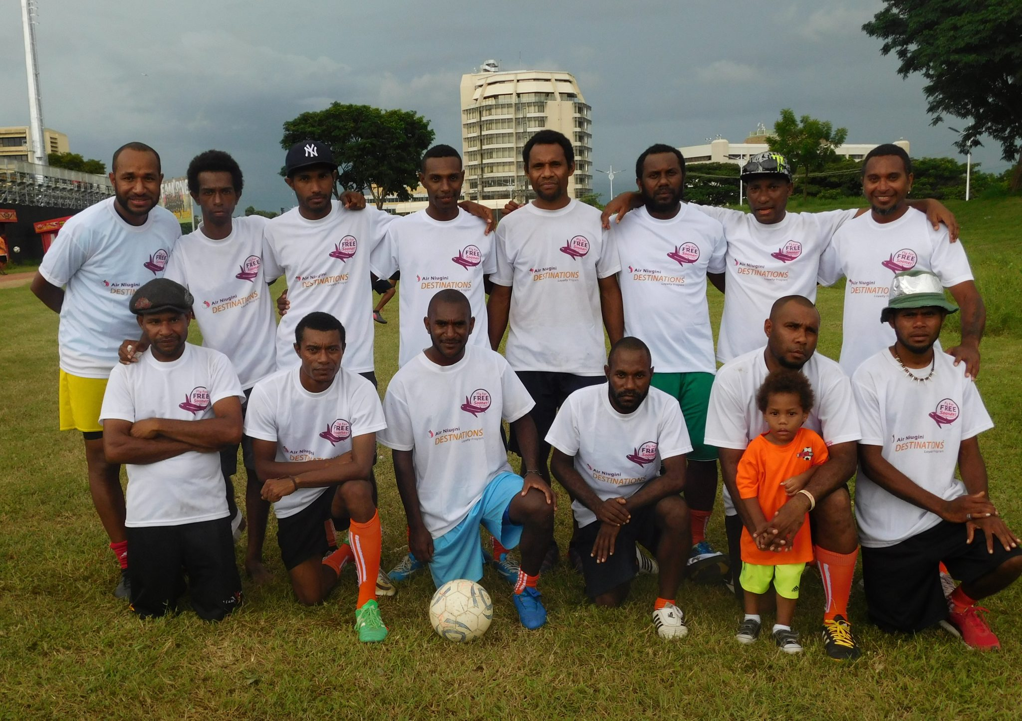 Air Niugini Mens Team won Charity Cup 2017