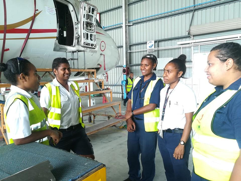 Air Niugini Female Aircraft Maintenance Engineers(AMEs)