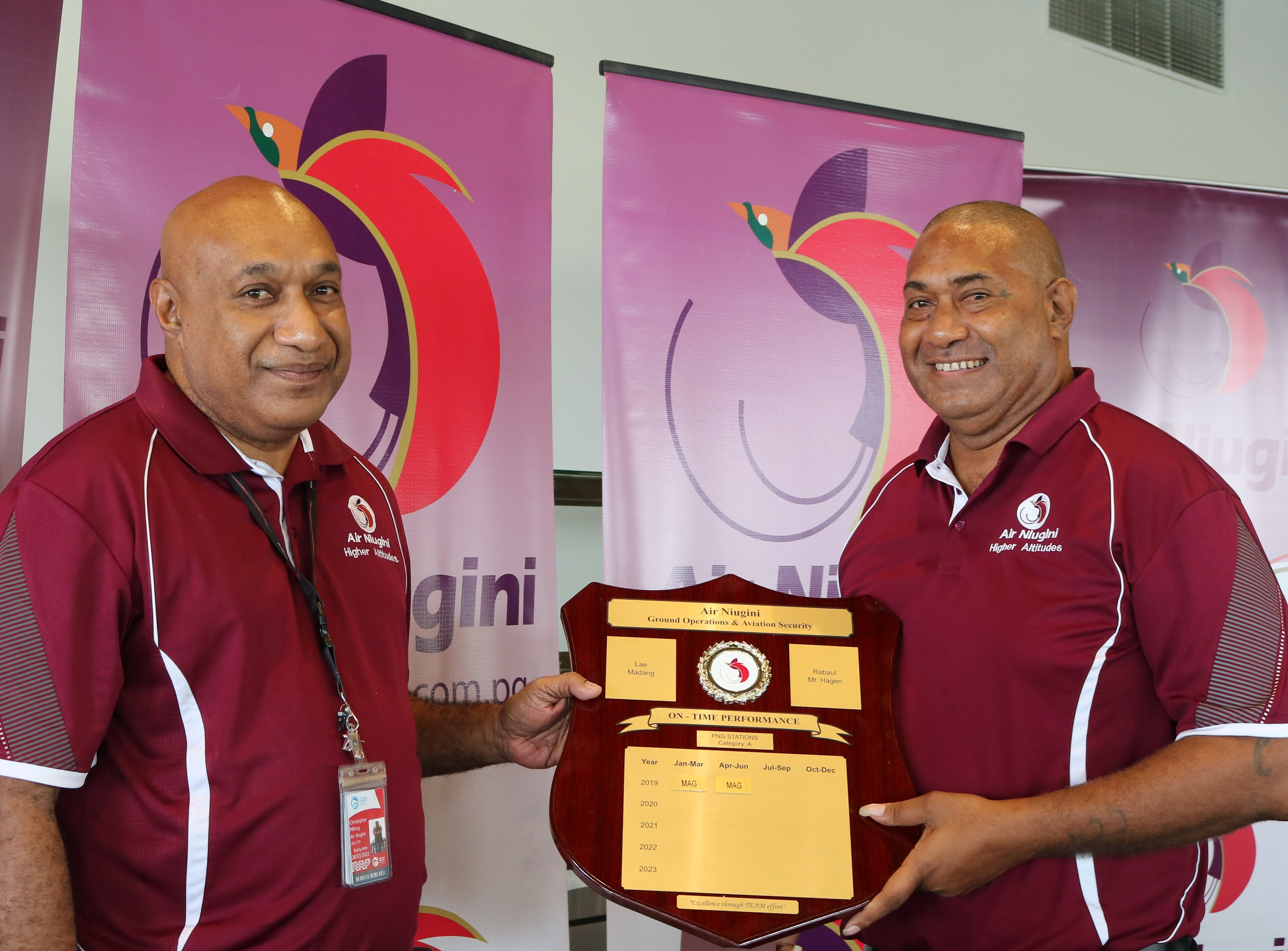 Air Niugini Awards Best Performing Ports