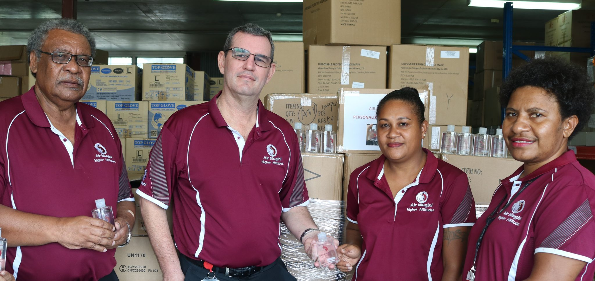 Air Niugini Distributes Personal Hand Sanitizers To All Staff