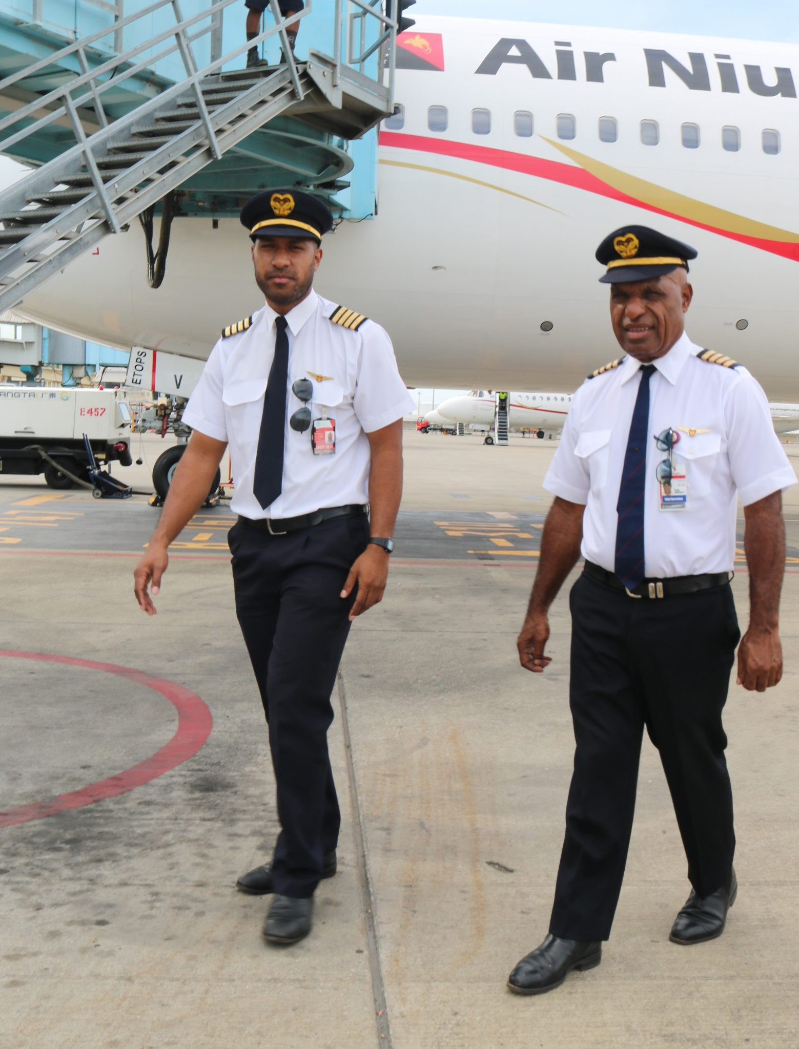 Air Niugini's First Papua New Guinean Father And Son Captains