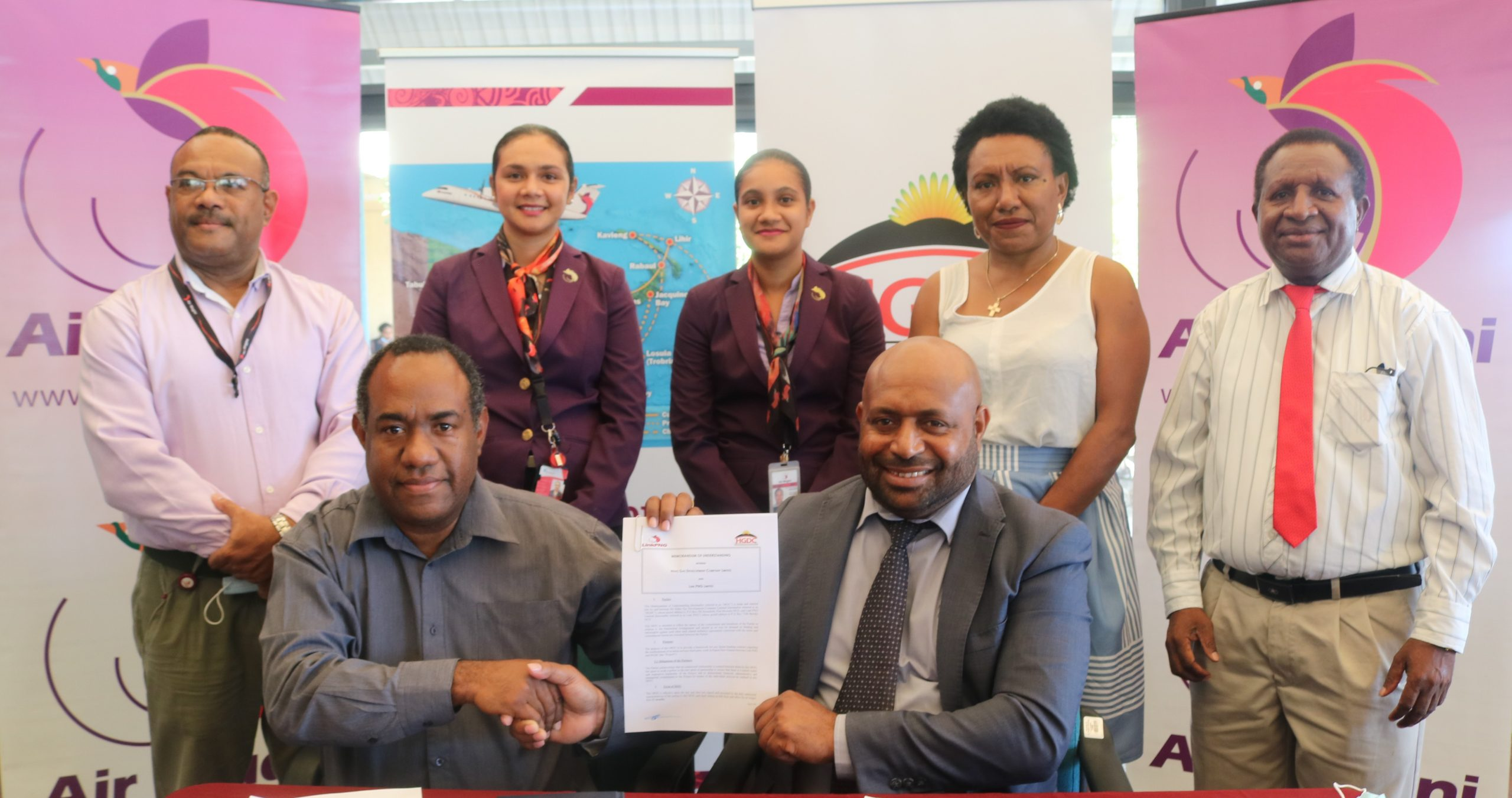 Link PNG signs MOU with Hides Gas Development Company for Charter Services